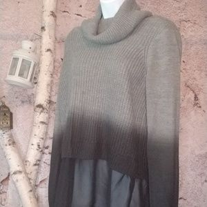 Rock &Republic ombre sweater with ruffle bottom